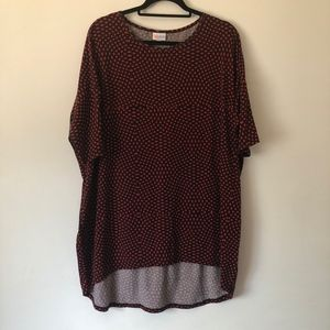 LulaRoe Irma Black and Red Print